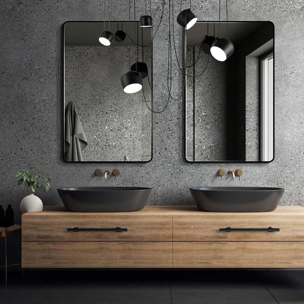 Обустройство ванной комнаты двумя зеркалами Billet от GieraDesign.