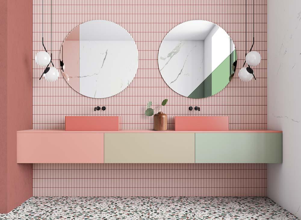 Оформление чайной с зеркалами Sunset Copper и Sunset Green от GieraDesign.