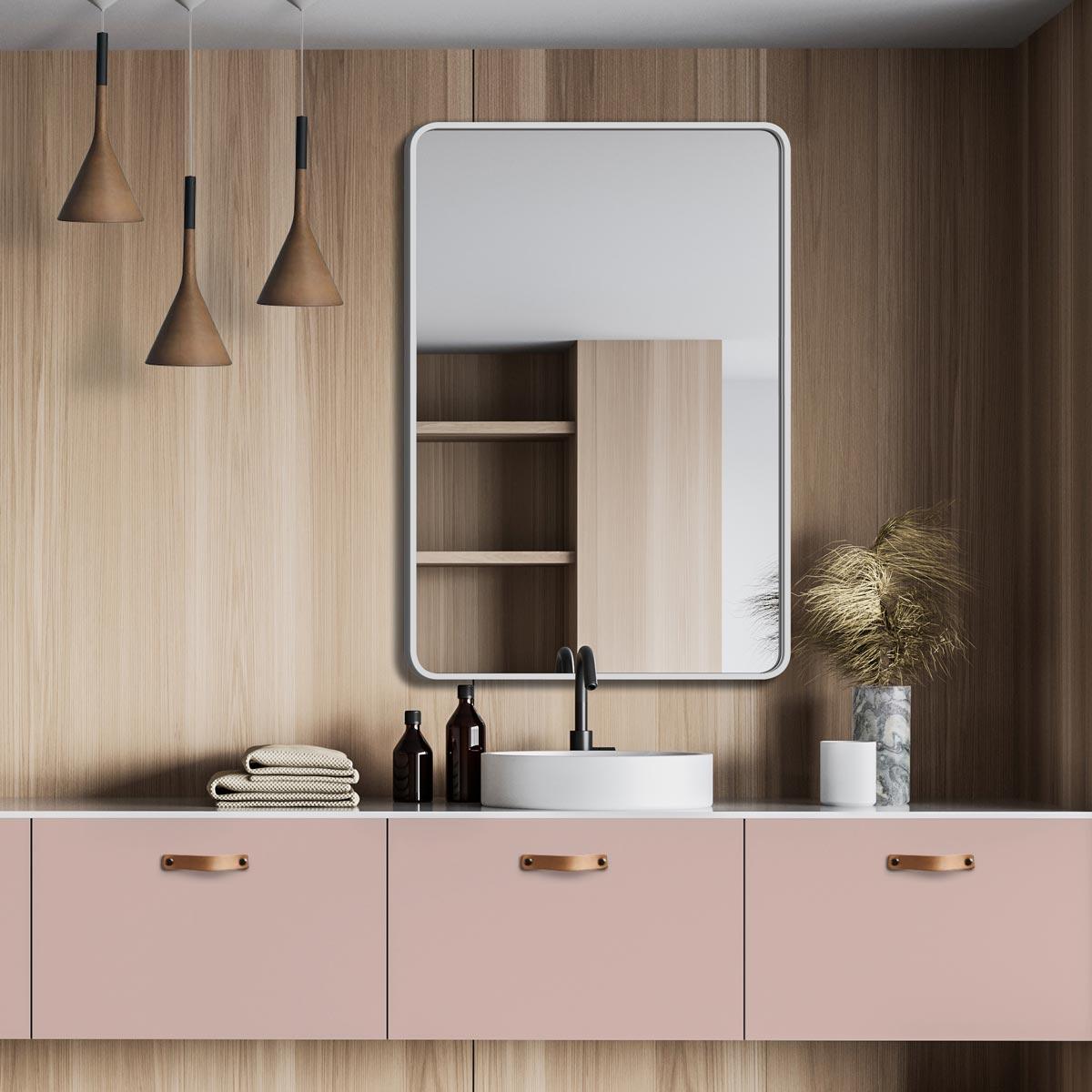 Как выбрать размер зеркала для ванной?